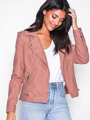 Vero Moda Vmworld Short Faux Leather Jacket C Rosa
