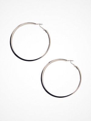 River Island örhängen Flat Hoop Earrings Silver