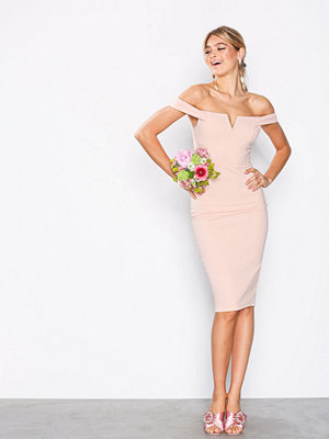 Ax Paris Bardot Midi Dress Blush