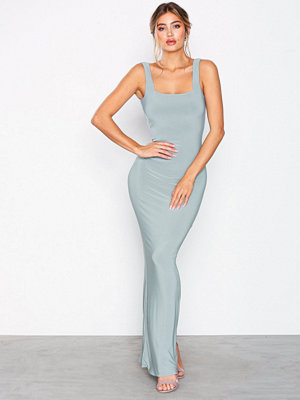 NLY Eve Ruched Back V Gown Sage