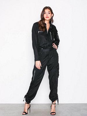 Polo Ralph Lauren Patched Jumpsuit Black