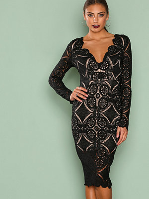 Love Triangle Atomic Midi Dress Black