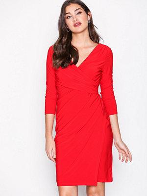 Lauren Ralph Lauren Electa 3/4 Sleeve Dress Red