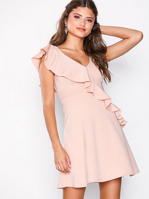 New Look Frill Trim Skater Dress Pale Pink