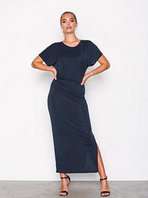 Selected Femme Sfhelen Ss Pleat Dress Dark Sapphire