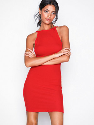 New Look Ribbed Sleeveless Dress Red