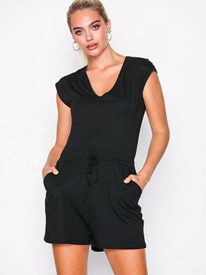 New Look Jersey V-Neck Playsuit Black