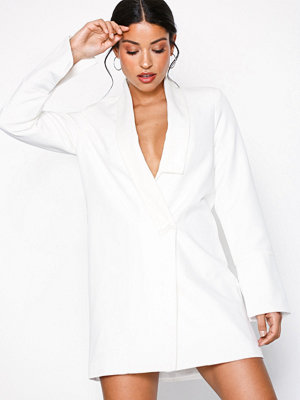 Missguided MB x MG Collar Detail Blazer Dress White