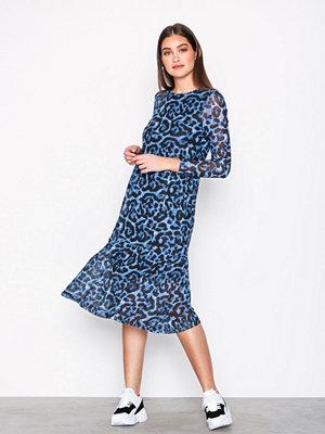 Pieces Pcamelia Ls Mesh Dress Blå
