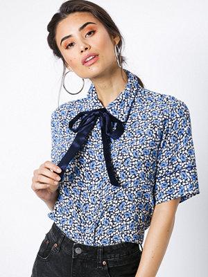 NORR Seema shirt Blue Flower
