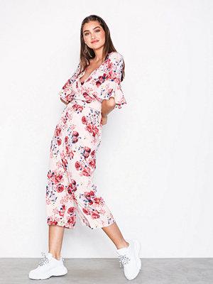 Vero Moda Vmane 2/4 Culotte Jumpsuit Exp Ljus Rosa