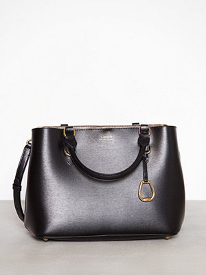 Lauren Ralph Lauren Medium Satchel Svart