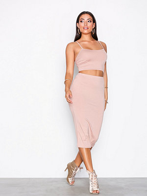 NLY One Midi Skirt Set Beige