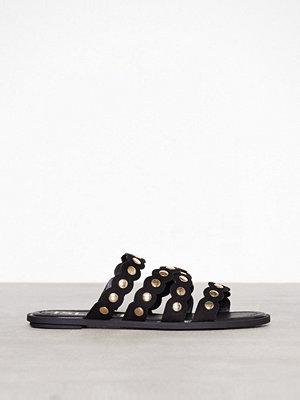 Tofflor - River Island Scallop Studded Sandal Black