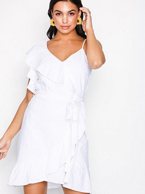 River Island SL Waisted Dress White