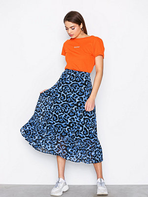 Pieces Pcdimona Midi Skirt Pb Blå