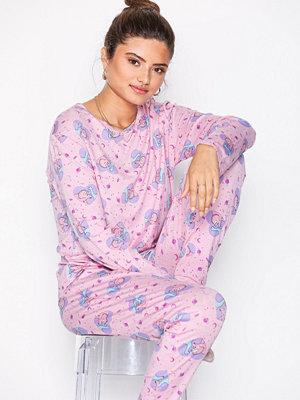 Pyjamas & myskläder - Chelsea Peers Dinomite Valentines Pyjamas Rosa