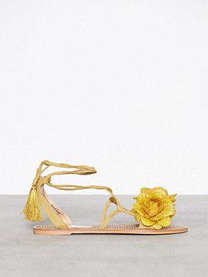 Sandaler & sandaletter - River Island Flower Tie Up Espadrille Yellow