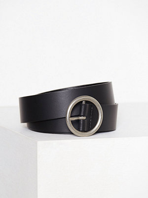 Vero Moda Vmthea Leather Slim Waist Belt Svart