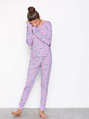 Pyjamas & myskläder - Chelsea Peers Shower Cats Long Pyjamas Lila