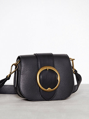 Polo Ralph Lauren Saddle Belt Crossbody Medium Svart axelväska