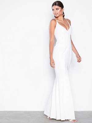 Missguided Cami Fishtail Maxi Dress White