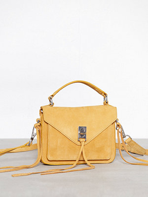 Rebecca Minkoff gul axelväska Mini Darren Messenger Butterscotch
