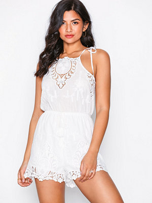 Kiss The Sky Delicate Touch Playsuit White