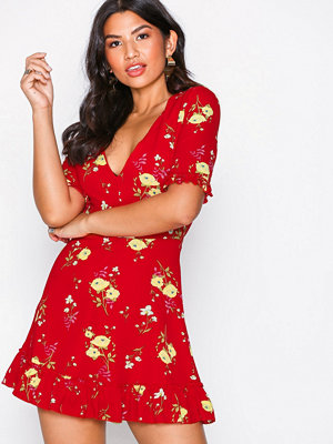 Parisian Short Sleeve Dress Red