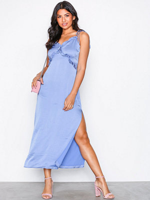 Glamorous Frill Strappy Dress Blue