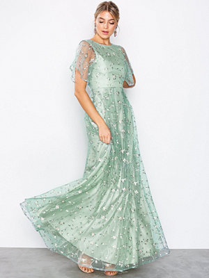 NLY Eve Embroidered Mesh Gown