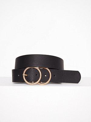 Bälten & skärp - River Island Textured Double Ring Jeans Belt Black