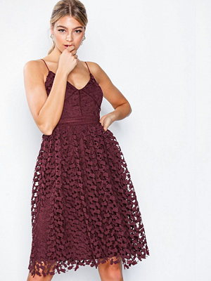 NLY Eve Cupcake Lace Dress Burgundy