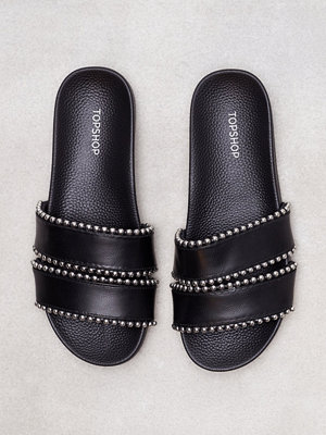 Topshop Rascal Studded Slide Black