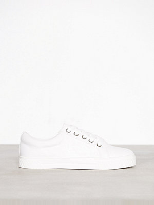 Topshop City Lace Up Trainers White