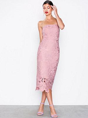 NLY Eve Bandeau Crochet Dress Rose