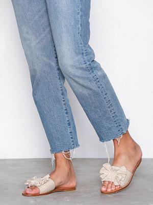 NLY Shoes Canvas Bow Sandal Beige/Vit