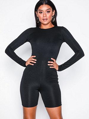 Missguided Fanny Lyckman Premium Unitard Jumpsuit Black