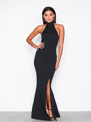 Missguided High Neck Maxi Dress Black