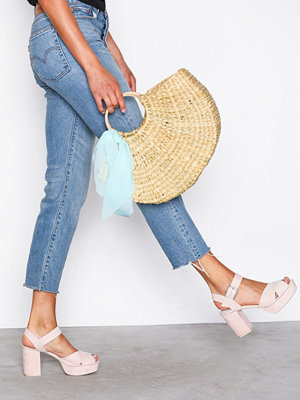 NLY Shoes Block Heel Platform Sandal Dusty Pink