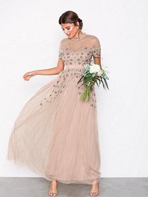 Maya Embellished Maxi Dress Taupe