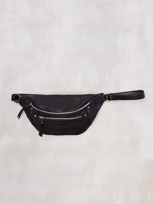 Pieces Pcdaisy Leather Bum Bag Svart