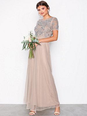 Maya Short Sleeve Maxi Dress Blush