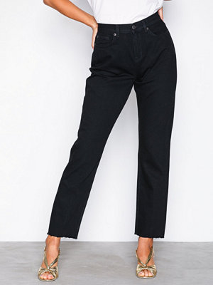 Jeans - Selected Femme Slflola Mr Straight Raw Rinse Black