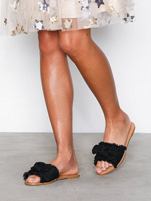 NLY Shoes Canvas Bow Sandal Svart