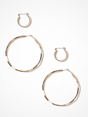 Only örhängen onlFONA 2-Pack Creol Earrings Acc Guld