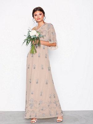 Maya One Shoulder Embellished Maxi Dress Blush