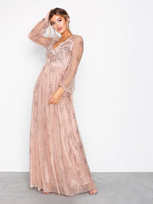 NLY Eve Sprinkle Glitter Gown Champagne