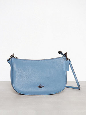 Coach blå axelväska Polished Pebble Lthr Chelsea Crossbody Chambray