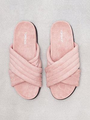 Topshop Rowanne Padded Sliders Light Pink